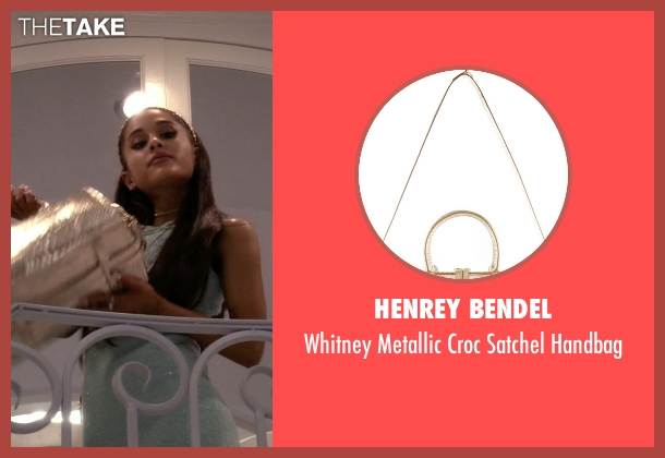 Henrey Bendel gold handbag from Scream Queens seen with Chanel #2 (Ariana Grande)