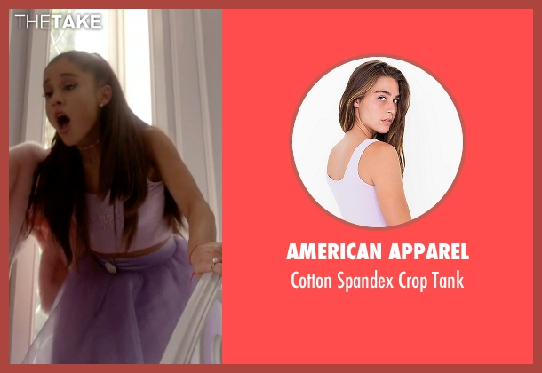 American Apparel pink tank from Scream Queens seen with Chanel #2 (Ariana Grande)
