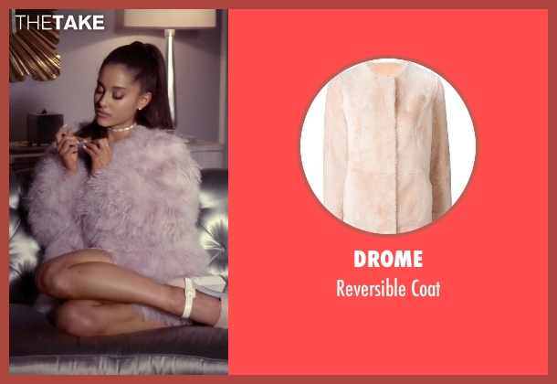 Drome purple coat from Scream Queens seen with Chanel #2 (Ariana Grande)