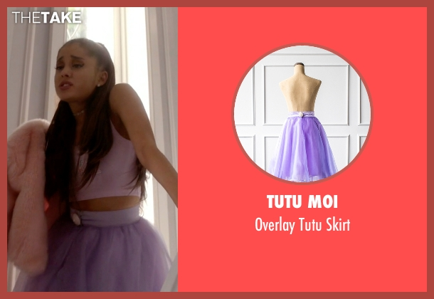 Tutu Moi purple skirt from Scream Queens seen with Chanel #2 (Ariana Grande)