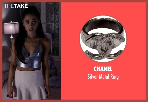 Chanel silver ring from Scream Queens seen with Chanel #2 (Ariana Grande)