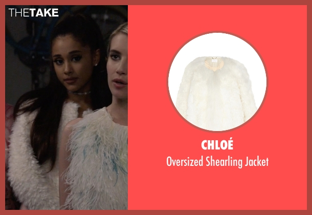 Chloé white jacket from Scream Queens seen with Chanel #2 (Ariana Grande)