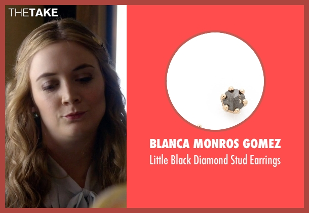 Blanca Monros Gomez black earrings from Scream Queens seen with Chanel #3 (Billie Lourd)