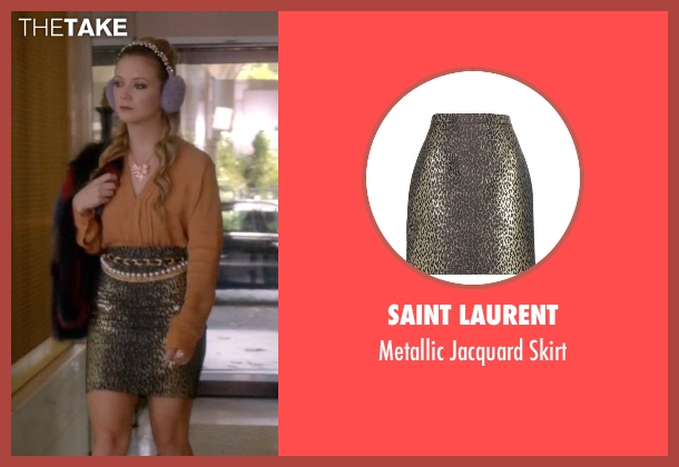 Saint Laurent black skirt from Scream Queens seen with Chanel #3 (Billie Lourd)