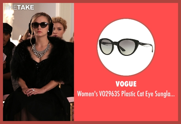 Vogue black sunglasses from Scream Queens seen with Chanel #3 (Billie Lourd)