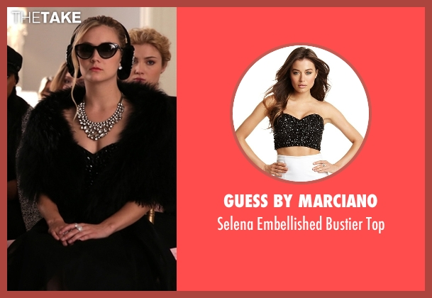 Guess by Marciano black top from Scream Queens seen with Chanel #3 (Billie Lourd)