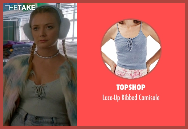 Topshop blue camisole from Scream Queens seen with Chanel #3 (Billie Lourd)