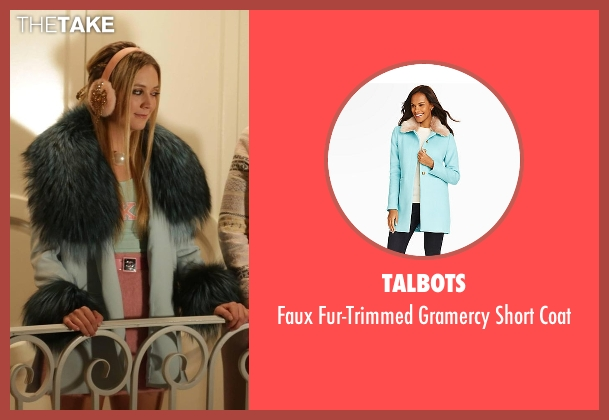 Talbots blue coat from Scream Queens seen with Chanel #3 (Billie Lourd)