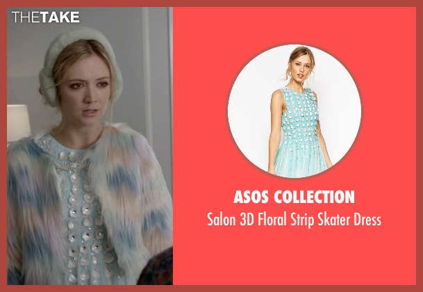 ASOS Collection blue dress from Scream Queens seen with Chanel #3 (Billie Lourd)
