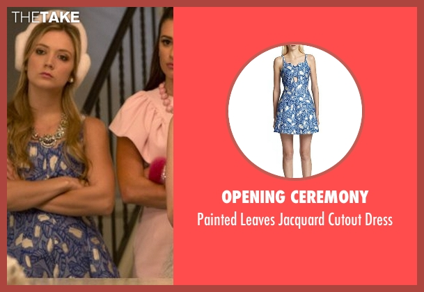 Opening Ceremony blue dress from Scream Queens seen with Chanel #3 (Billie Lourd)