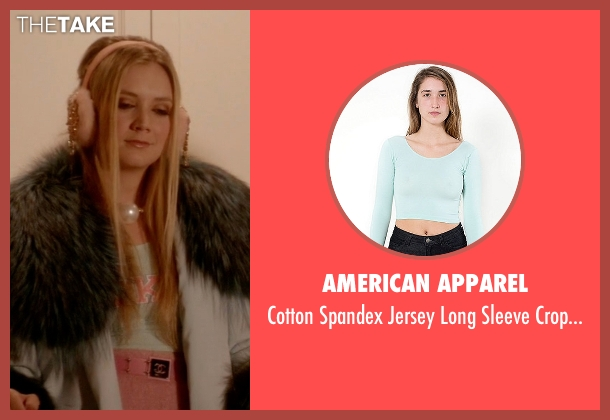 American Apparel blue top from Scream Queens seen with Chanel #3 (Billie Lourd)