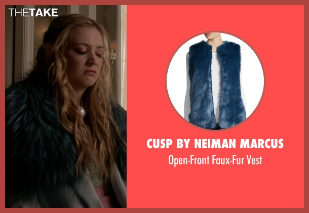 Cusp by Neiman Marcus blue vest from Scream Queens seen with Chanel #3 (Billie Lourd)