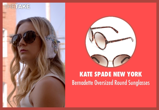 Kate Spade New York brown sunglasses from Scream Queens seen with Chanel #3 (Billie Lourd)