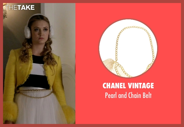 Chanel Vintage gold belt from Scream Queens seen with Chanel #3 (Billie Lourd)