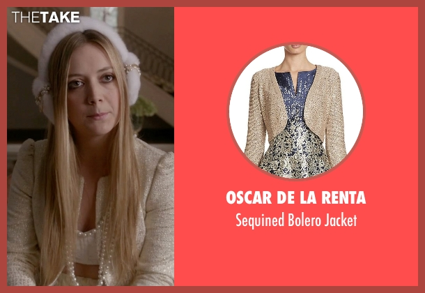 Oscar De La Renta gold jacket from Scream Queens seen with Chanel #3 (Billie Lourd)