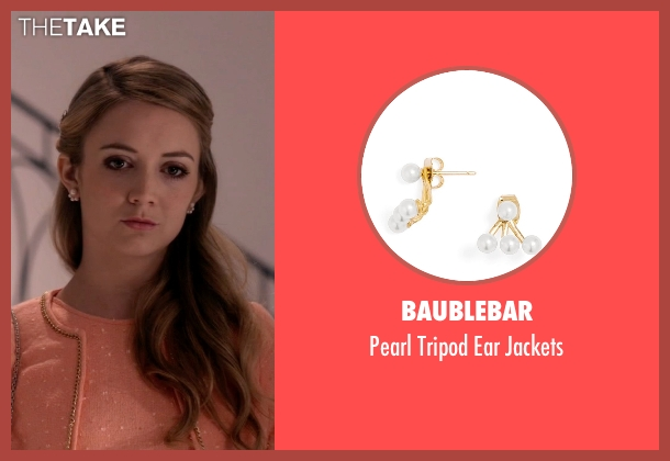 Baublebar gold jackets from Scream Queens seen with Chanel #3 (Billie Lourd)