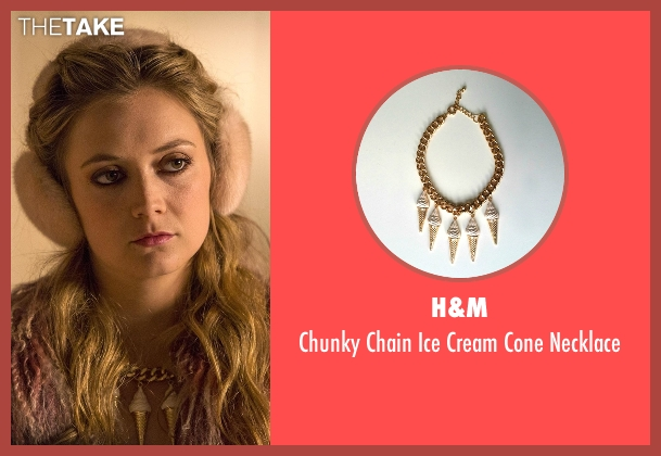 H&M gold necklace from Scream Queens seen with Chanel #3 (Billie Lourd)