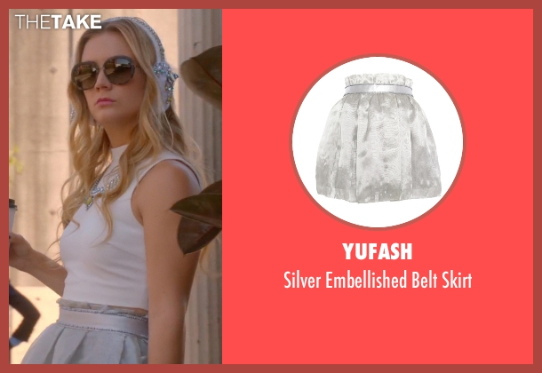 Yufash gray skirt from Scream Queens seen with Chanel #3 (Billie Lourd)