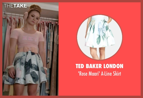 Ted Baker London green skirt from Scream Queens seen with Chanel #3 (Billie Lourd)