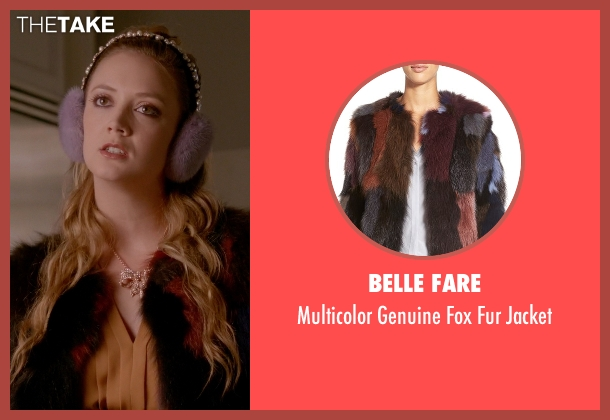 Belle Fare jacket from Scream Queens seen with Chanel #3 (Billie Lourd)