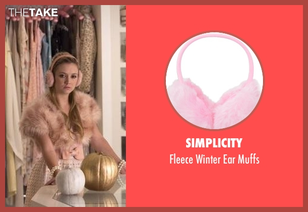 Simplicity muffs from Scream Queens seen with Chanel #3 (Billie Lourd)