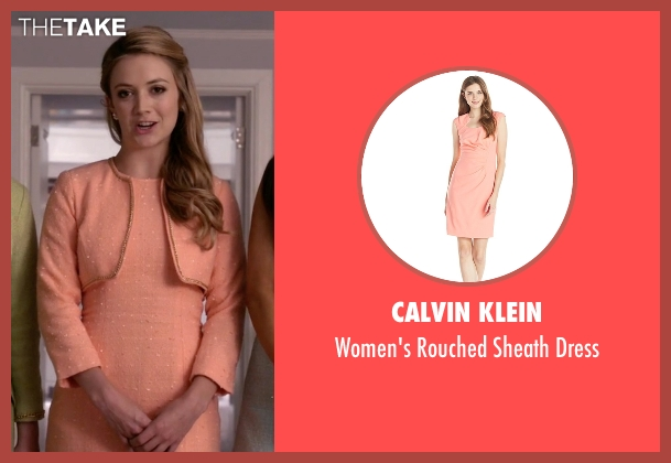 Calvin Klein orange dress from Scream Queens seen with Chanel #3 (Billie Lourd)