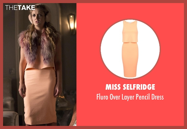 Miss Selfridge orange dress from Scream Queens seen with Chanel #3 (Billie Lourd)