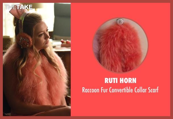 Ruti Horn orange scarf from Scream Queens seen with Chanel #3 (Billie Lourd)