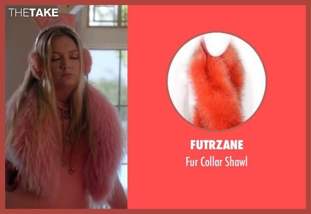 Futrzane orange shawl from Scream Queens seen with Chanel #3 (Billie Lourd)