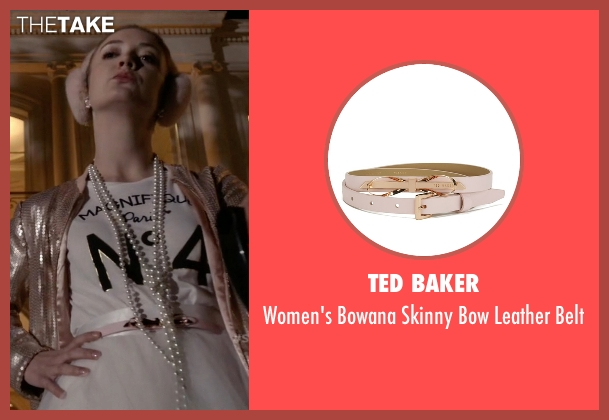 Ted Baker pink belt from Scream Queens seen with Chanel #3 (Billie Lourd)