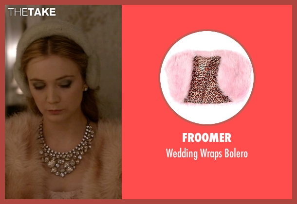 Froomer pink bolero from Scream Queens seen with Chanel #3 (Billie Lourd)
