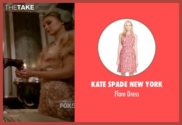 Kate Spade New York pink dress from Scream Queens seen with Chanel #3 (Billie Lourd)