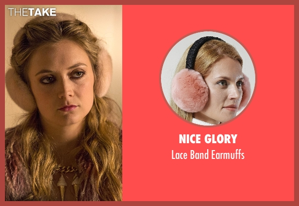 Nice Glory pink earmuffs from Scream Queens seen with Chanel #3 (Billie Lourd)