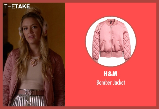 H&M pink jacket from Scream Queens seen with Chanel #3 (Billie Lourd)
