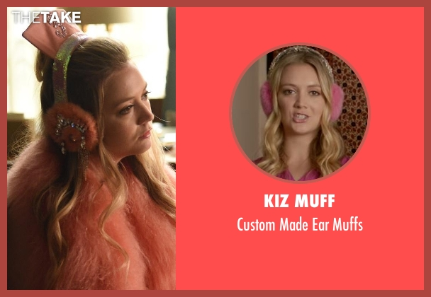 Kiz Muff pink muffs from Scream Queens seen with Chanel #3 (Billie Lourd)