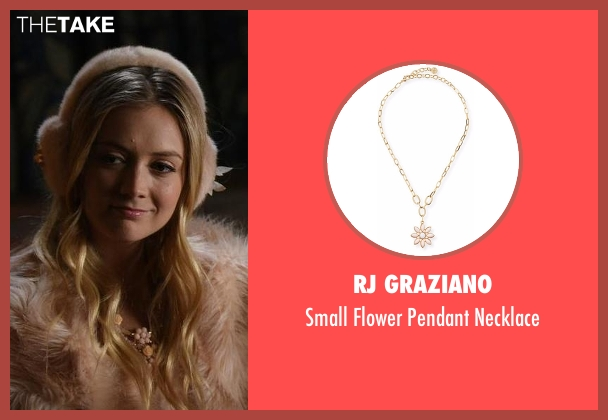 RJ Graziano pink necklace from Scream Queens seen with Chanel #3 (Billie Lourd)
