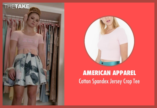 American Apparel pink tee from Scream Queens seen with Chanel #3 (Billie Lourd)