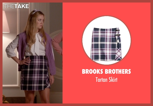 Brooks Brothers purple skirt from Scream Queens seen with Chanel #3 (Billie Lourd)