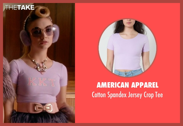 American Apparel purple tee from Scream Queens seen with Chanel #3 (Billie Lourd)