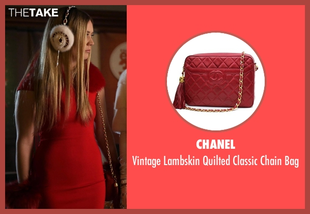 Chanel red bag from Scream Queens seen with Chanel #3 (Billie Lourd)