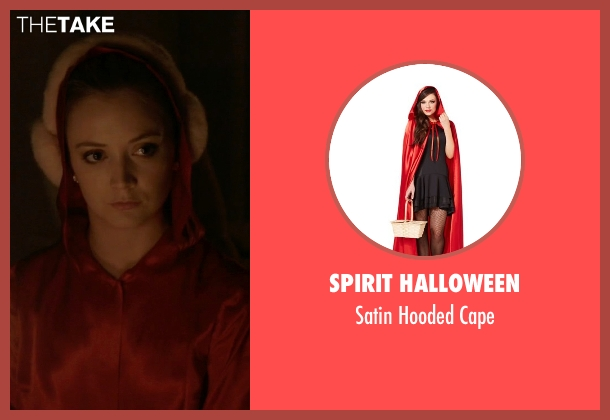 Spirit Halloween red cape from Scream Queens seen with Chanel #3 (Billie Lourd)