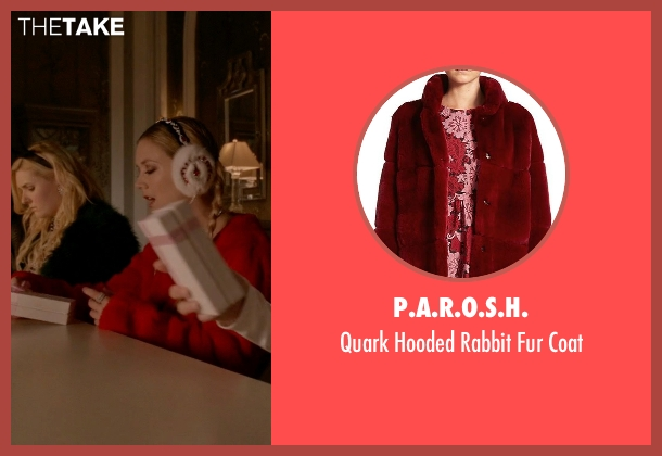 P.A.R.O.S.H. red coat from Scream Queens seen with Chanel #3 (Billie Lourd)