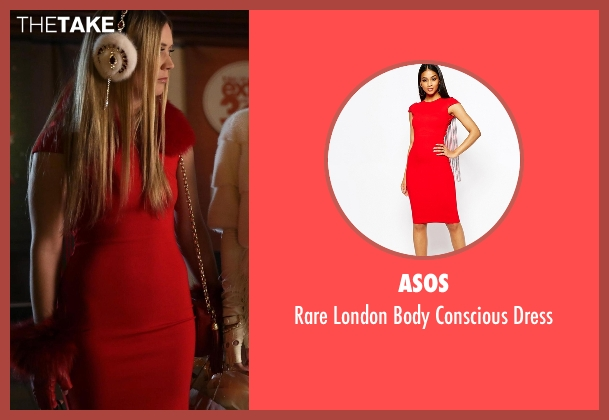 Asos red dress from Scream Queens seen with Chanel #3 (Billie Lourd)