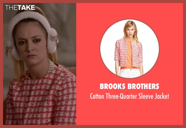 Brooks Brothers red jacket from Scream Queens seen with Chanel #3 (Billie Lourd)