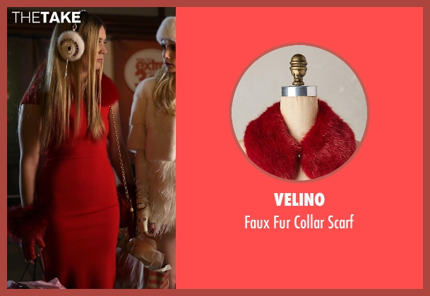 Velino red scarf from Scream Queens seen with Chanel #3 (Billie Lourd)