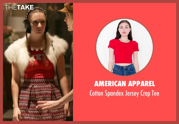 American Apparel red tee from Scream Queens seen with Chanel #3 (Billie Lourd)
