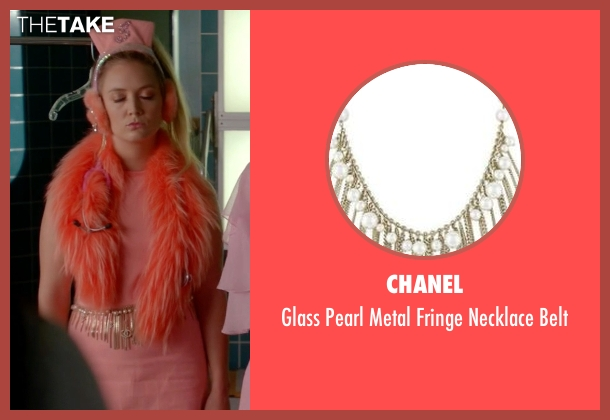 Chanel  silver belt from Scream Queens seen with Chanel #3 (Billie Lourd)