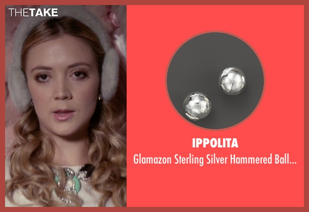 Ippolita silver earrings from Scream Queens seen with Chanel #3 (Billie Lourd)