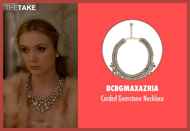 BCBGMAXAZRIA silver necklace from Scream Queens seen with Chanel #3 (Billie Lourd)