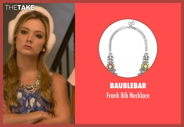 Baublebar silver necklace from Scream Queens seen with Chanel #3 (Billie Lourd)